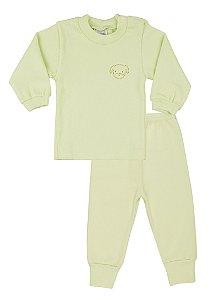 Pijama Menino Ribana Canelada - Verde Menta