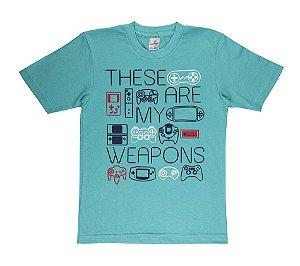 Camiseta Menino Meia Malha 30/1 - Verde Lago