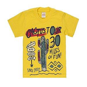 Camiseta Menino Meia Malha Fio 30/1 - Amarelo
