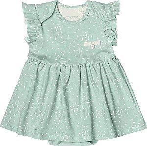 Body Vestido Menina Cotton Lycra - Verde Claro