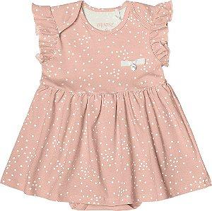 Body Vestido Menina Cotton Lycra - Rosa Claro