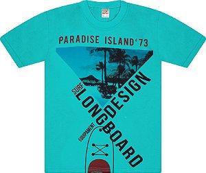 Camiseta Menino Meia Malha Fio 30/1 - Tropical