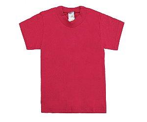 Camiseta Escolar Menino Meia Manga Meia Malha Fio 30/1 - Vermelho