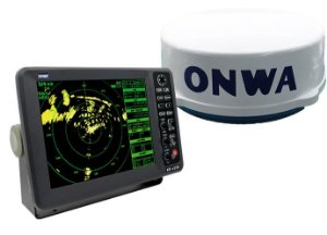 Radar Maritimo + Display 12 Polegadas Onwa KR-1238 4kW 36nm