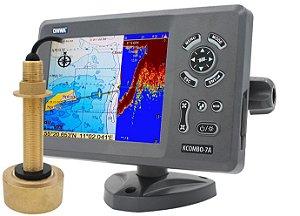 GPS Sonar AIS Transponder Onwa KCOMBO-7A + Transdutor Bronze
