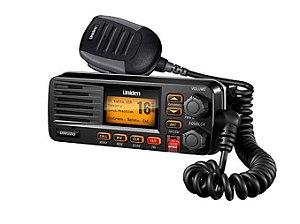 Rádio VHF Marítimo Uniden Solara UM380BK Preto