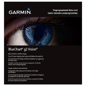 Carta Náutica Garmin Bluechart G2 Vision HD Bacia Amazônica