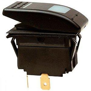 Botão Painel Liga/Desliga Iluminado Seachoice 12V 16A Preto