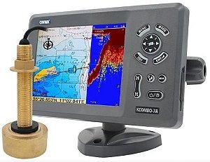 GPS Sonar AIS Transp Onwa KCOMBO 7A + transdutor bronze