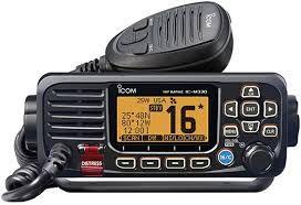 Rádio Vhf Marítimo Icom Ic-M330 Com Dsc Homologado - Preto