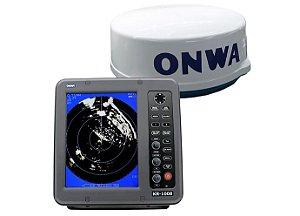 Radar Maritimo + Display 10 polegadas Onwa KR-1008 4 kW 36nm