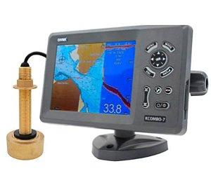Display Multifunção GPS  KCOMBO-7 ONWA -Transdutor de Bronze