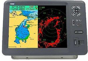 """GPS 12"""" Carta, Sonda, Radar, AIS  KP-1299X Onwa Marine"""