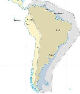 Carta Náutica América do Sul para Onwa Marine Micro Sd Card