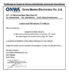 "Radar Marítimo 4kW 36nm LCD 10"" colorido Onwa KR-1008"