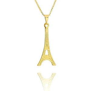 Colar Torre Eiffel Folheado a Ouro 18k - 06620