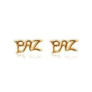 BRINCO PAZ FOLHEADO A OURO 18K - 07105