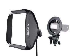 Softbox de 60x60cm para Flash Speedlite com Suporte GODOX