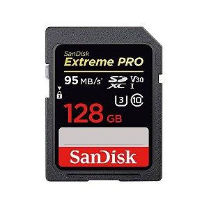 Cartão de Memória SDXC Sandisk 128GB Extreme Pro 95MB/s