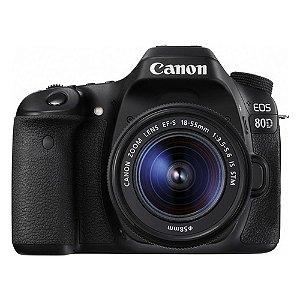 Câmera EOS 80D com Lente Canon EF-S 18-55mm f/3.5-5.6