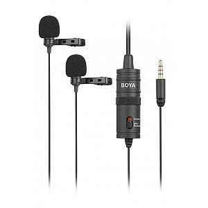 Microfone Lapela Duplo BY-M1DM Boya