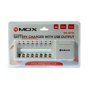 Carregador para 8 pilhas AA ou AAA MO-CB796 MOX