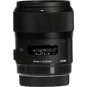 Lente Sigma 35mm Dg F/1.4 Hsm Art P/Canon
