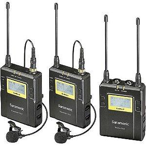 Microfone de lapela UWMIC9 com 2 transmissor e 1 receptor Saramonic
