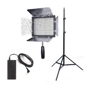 Kit Led YN-300III+Tripé de iluminação+Fonte