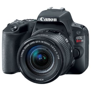 Camera Canon EOS SL2 com lente 18-55 IS STM