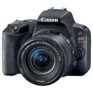 Camera Canon EOS SL2 com lente 18-55 IS STM