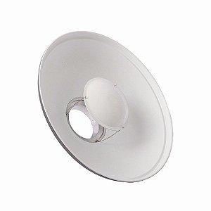 Rebatedor Beauty dish branco BDR-S C420mm GREIKA com colmeia