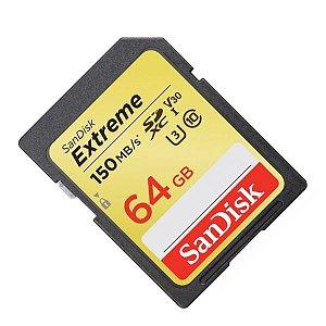 Cartão de memória SD 64Gb 150Mb/s Extreme SanDisk
