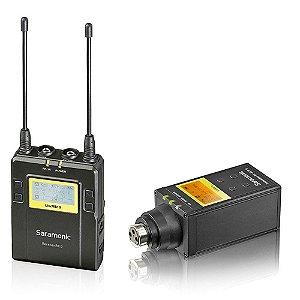 Microfone Saramonic Sem Fio Com Plug-On XLR UWMIC9