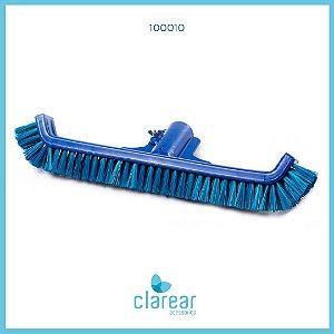Escova de Nylon Curva Azul Cerdas Macias