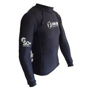 COL-07 UV FUN DIVE, Camiseta manga londa 100% lycra com proteção UV