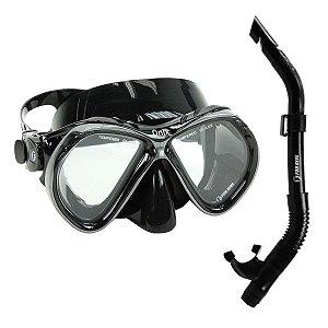 Kit Brasil Onix Fun Dive, Máscara Respirador para Mergulho Pesca Sub