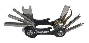 Mini Tool Fun Dive, Kit Ferramentas Inox para Mergulho