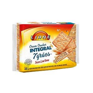 Biscoito Cream Cracker Integral 7 Grãos 400g - Sem Lactose - Liane
