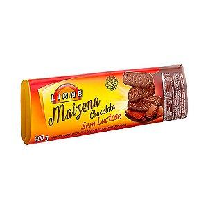Biscoito Maizena 200g - Sabor Chocolate - Sem Lactose - Liane