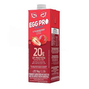 Egg PRO 1kg Congelado - Sabor Morango - Proteína Pura