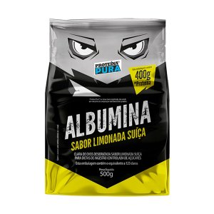 Albumina - Clara de ovo- Sabor Limonada Suíça 500g - Proteína Pura