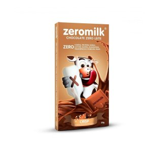 Chocolate Zero Lactose 80g - Crisp - 40% Cacau - Zeromilk