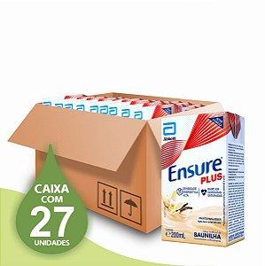 Ensure Plus 200ml - Sabor Baunilha - Abbott - Caixa com 27 unidades
