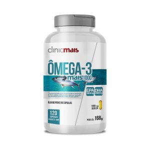 Omega 3 Mais 1000 - 120 Cápsulas - Clinic Mais