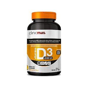 Vitamina D3 2000 U.I - 30 Cápsulas - Clinic Mais