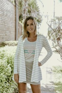 CARDIGAN OFF WHITE LISTRADO