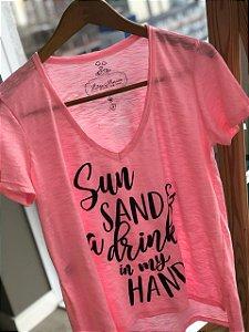 T-shirt Flamê Neon SUN SAND
