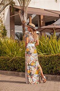 Vestido Longo Floral claro