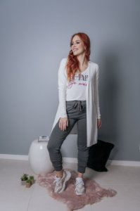Cardigan off white Canelado